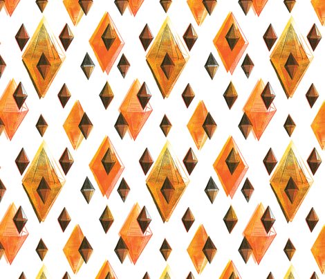 Orange Facets fabric by papermoonpatterns on Spoonflower - custom fabric