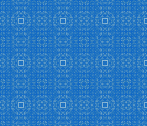 Blue Circles Geometric © Gingezel™ 2012 fabric by gingezel on Spoonflower - custom fabric