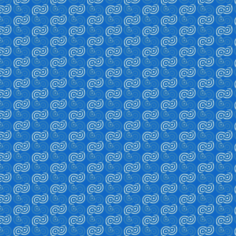 Blue Broken Circles © Gingezel™ 2012 fabric by gingezel on Spoonflower - custom fabric