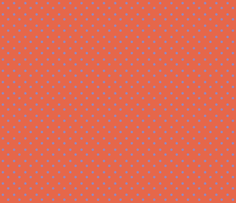 Chick_ChickTerra_Cotta___purple_polka_dots fabric by lana_gordon_rast_ on Spoonflower - custom fabric