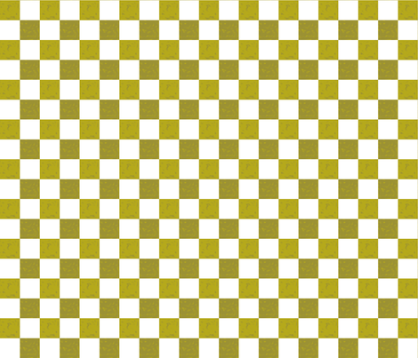Chick_Chickgreen___white_checks fabric by ©_lana_gordon_rast_ on Spoonflower - custom fabric
