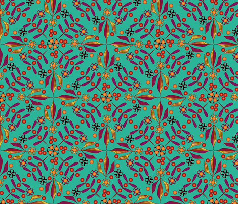 Leaves and Berries by 4 Twist - Summertime fabric by glimmericks on Spoonflower - custom fabric