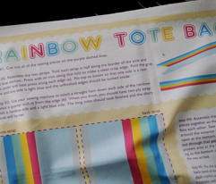 DIY Rainbow Tote Bag  (click to see sewn version)