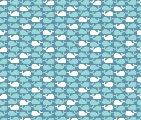 Whales (dark) fabric by mondaland on Spoonflower - custom fabric