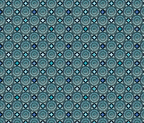 ©2011 the rose window - aquamarine fabric by glimmericks on Spoonflower - custom fabric