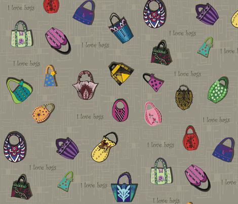 I_love_bags fabric by kirpa on Spoonflower - custom fabric