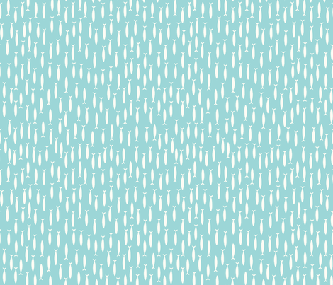 Little fish (blue) fabric by mondaland on Spoonflower - custom fabric