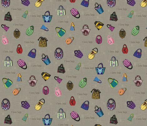 I_love_bags_swatch fabric by kirpa on Spoonflower - custom fabric