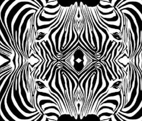 ZEBRA HEAD fabric by bluevelvet on Spoonflower - custom fabric