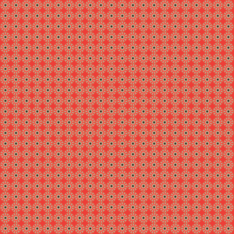 Circle Pattern (Red, Beige and Black) fabric by nimochka on Spoonflower - custom fabric