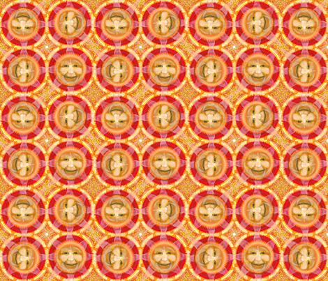 NSEW mini sun faces fabric by kymnicolas on Spoonflower - custom fabric
