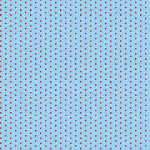 Polka dot Baby Blue and Red