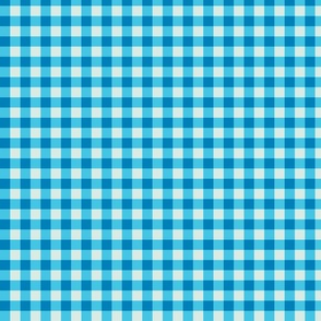 Plaid Aqua Blue