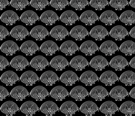 armadillo at night fabric by anniedeb on Spoonflower - custom fabric