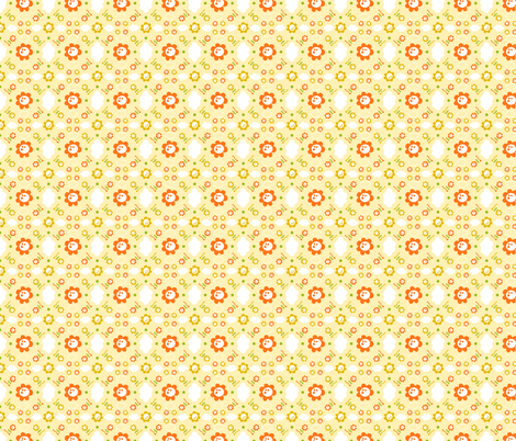 Flores y nubes fabric by gemmacreativa on Spoonflower - custom fabric