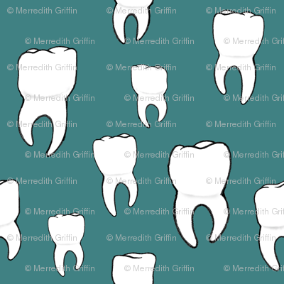Teeth teal
