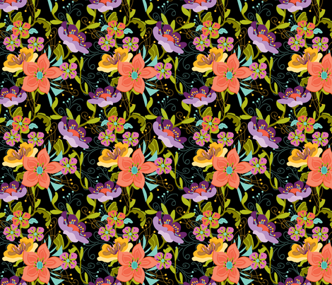 Damask_Floral fabric by ©_lana_gordon_rast_ on Spoonflower - custom fabric