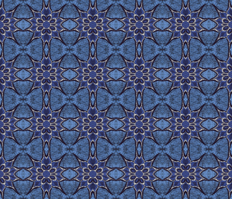 Shades of Blue fabric by hooeybatiks on Spoonflower - custom fabric
