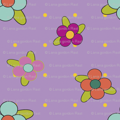 Damask_Flowers_on_Purple
