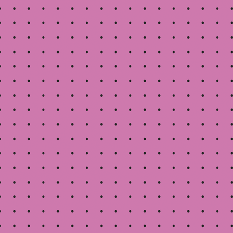 Damask_Black_Dots_on_Pink fabric by ©_lana_gordon_rast_ on Spoonflower - custom fabric