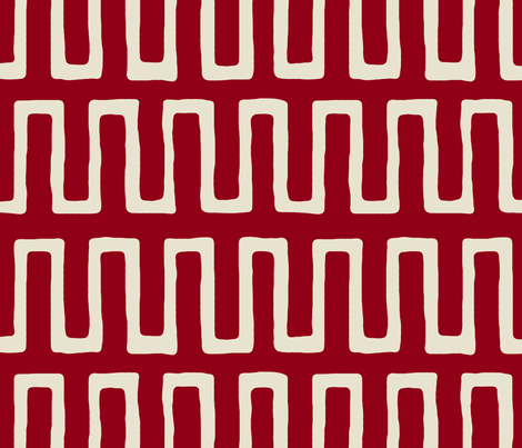 Urn in carmine fabric by domesticate on Spoonflower - custom fabric