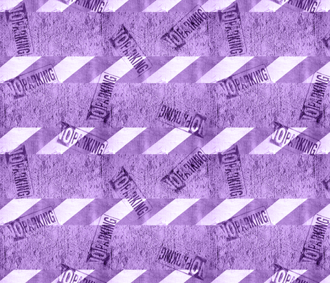 NO PARKING (Purple)  fabric by robyriker on Spoonflower - custom fabric
