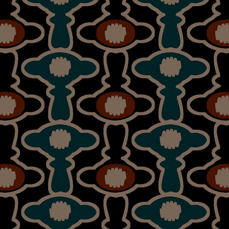 TonTon (Blue) fabric by david_kent_collections on Spoonflower - custom fabric
