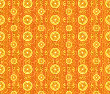 Solar Blossoms fabric by robyriker on Spoonflower - custom fabric