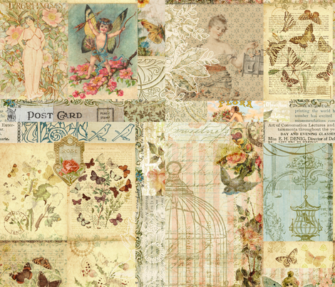 Butterfly Garden -  fabric by jodielee on Spoonflower - custom fabric
