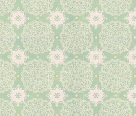 Shabby Chic Vintage Crochet Doiley  fabric by jodielee on Spoonflower - custom fabric
