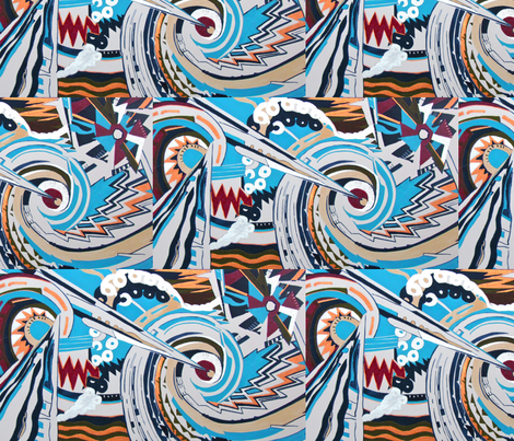 Lightning Striking fabric by bettieblue_designs on Spoonflower - custom fabric