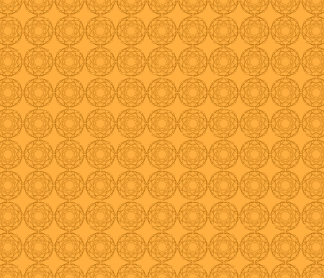 Orange geometric fabric by alexsan on Spoonflower - custom fabric