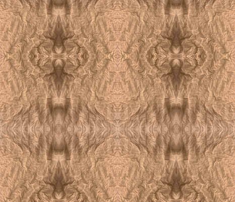 wrinkled brown paper fabric by anniedeb on Spoonflower - custom fabric