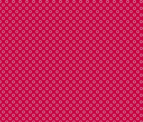 pois rouge fond rouge fabric by nadja_petremand on Spoonflower - custom fabric