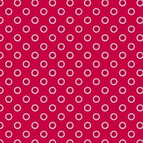 pois rouge fond rouge