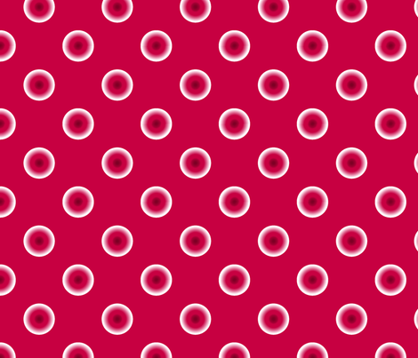 pois fond rouge L fabric by nadja_petremand on Spoonflower - custom fabric