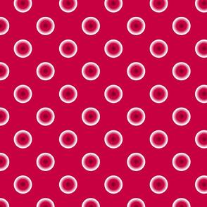 pois fond rouge L