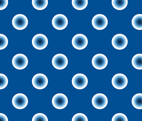 pois bleu fond bleu fabric by nadja_petremand on Spoonflower - custom fabric