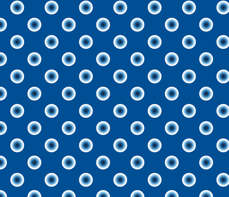 pois bleu fond bleu M fabric by nadja_petremand on Spoonflower - custom fabric