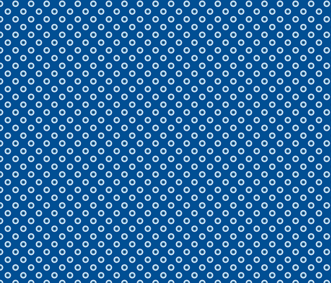 pois bleu fond bleu S fabric by nadja_petremand on Spoonflower - custom fabric