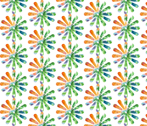 Orange Flower fabric by countrygarden on Spoonflower - custom fabric