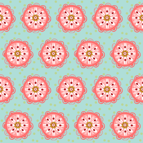 Tribal Petunia fabric by subcutaneous88 on Spoonflower - custom fabric