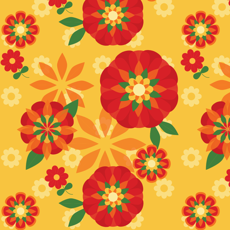 Poppy Garden fabric by bussybuffu on Spoonflower - custom fabric