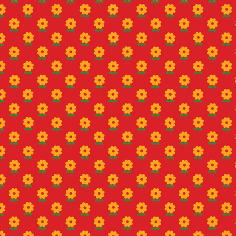 Red Poppy fabric by bussybuffu on Spoonflower - custom fabric