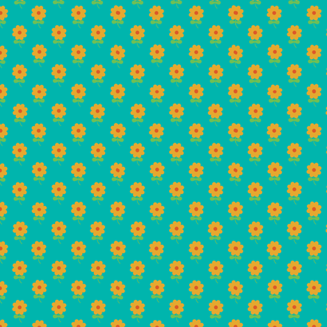 Teal Poppy fabric by bussybuffu on Spoonflower - custom fabric