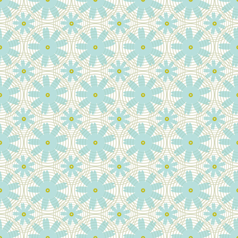 Daisy Chain fabric by brainsarepretty on Spoonflower - custom fabric