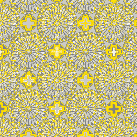 ©2012 the rose window - lemon glints fabric by glimmericks on Spoonflower - custom fabric