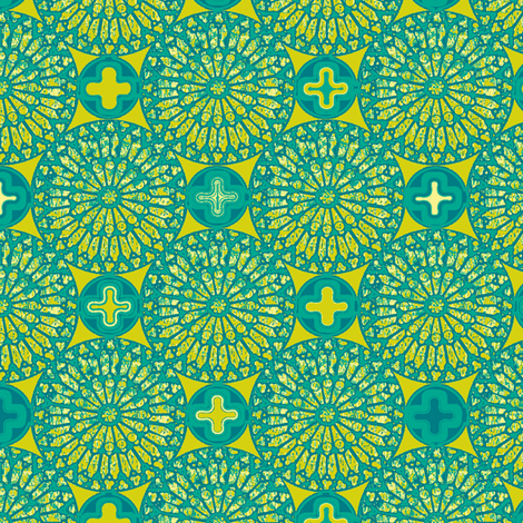 ©2012 the rose window - malachite lime fabric by glimmericks on Spoonflower - custom fabric