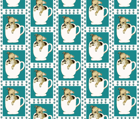 Teacup Chihuahua fabric by dogdaze_ on Spoonflower - custom fabric