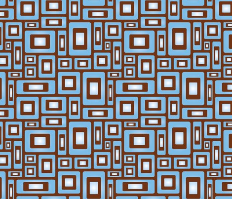 Mod Quad Blue fabric by jjtrends on Spoonflower - custom fabric